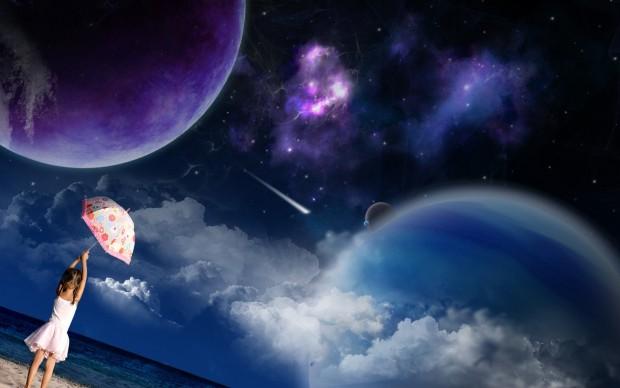pesok_more_devochka_zontik_planety_zvezdy_kosmos_1920x1200